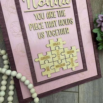 """""""You Are The Piece That Holds Us Together"""" Cornice Personalizzata Viola"""